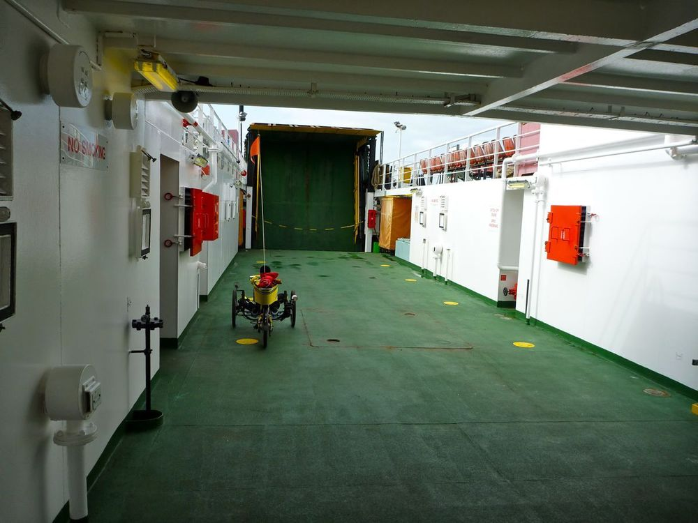 only vehicle on the ferry....jpg