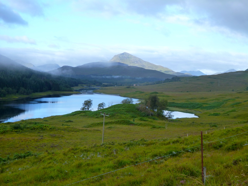 Looking south west across Glen Garry to Glen Kingie. dominated by Gairich, and gateway to the mountains of Knoydart.