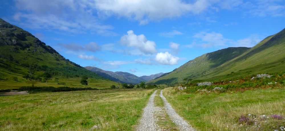 Heading up Cona Glen.