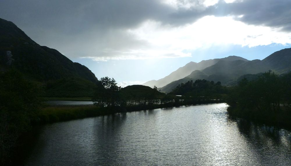 Loch Shiel under the westering sun.