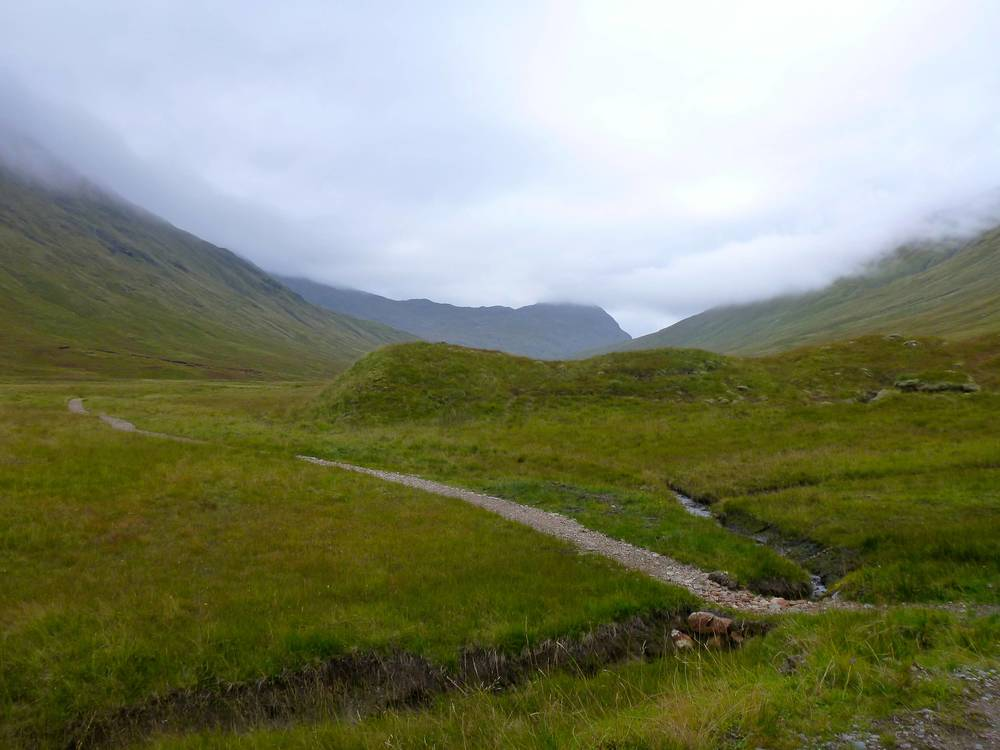 Newly-made pathway heading up Gleann Gnìomaidh.