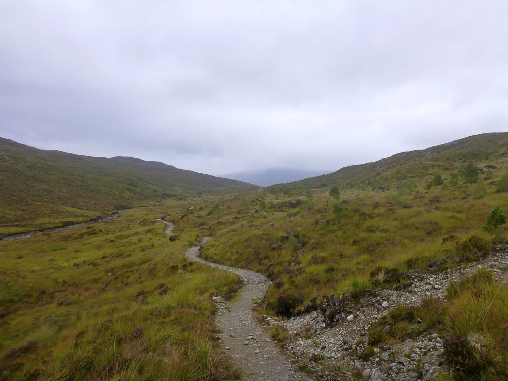 Hiker's delight: the well-made path leading toward Lochan Fada.