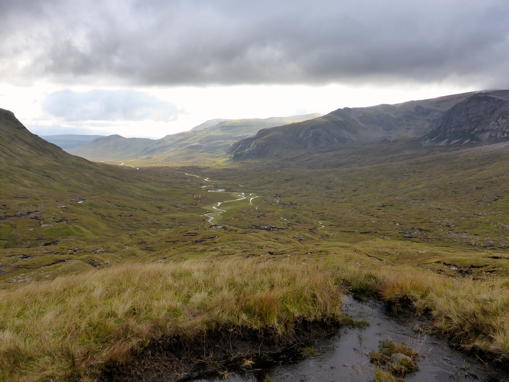 A last look back down Glen Oykel, which we had followed for a day and a half.