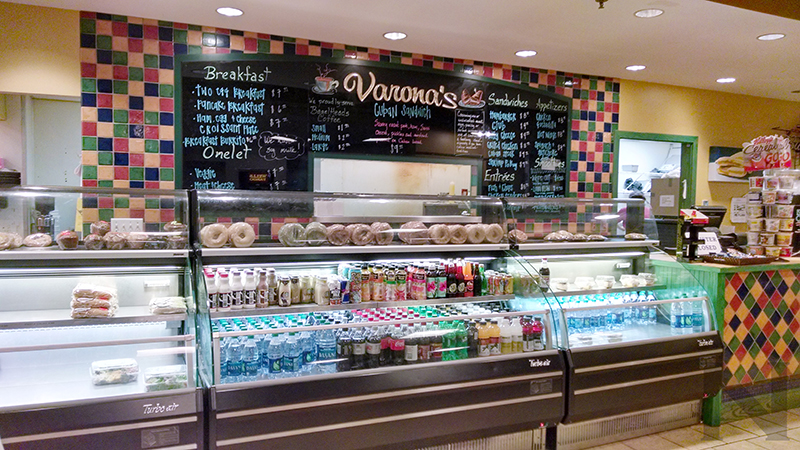 Varona's restaurant inside the terminal at Pensacola International Airport (PNS).