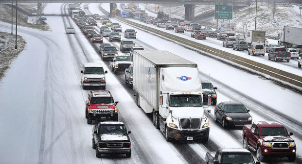 A view of what the highways near Birmingham look like, as per www.al.com's coverage of the storm.