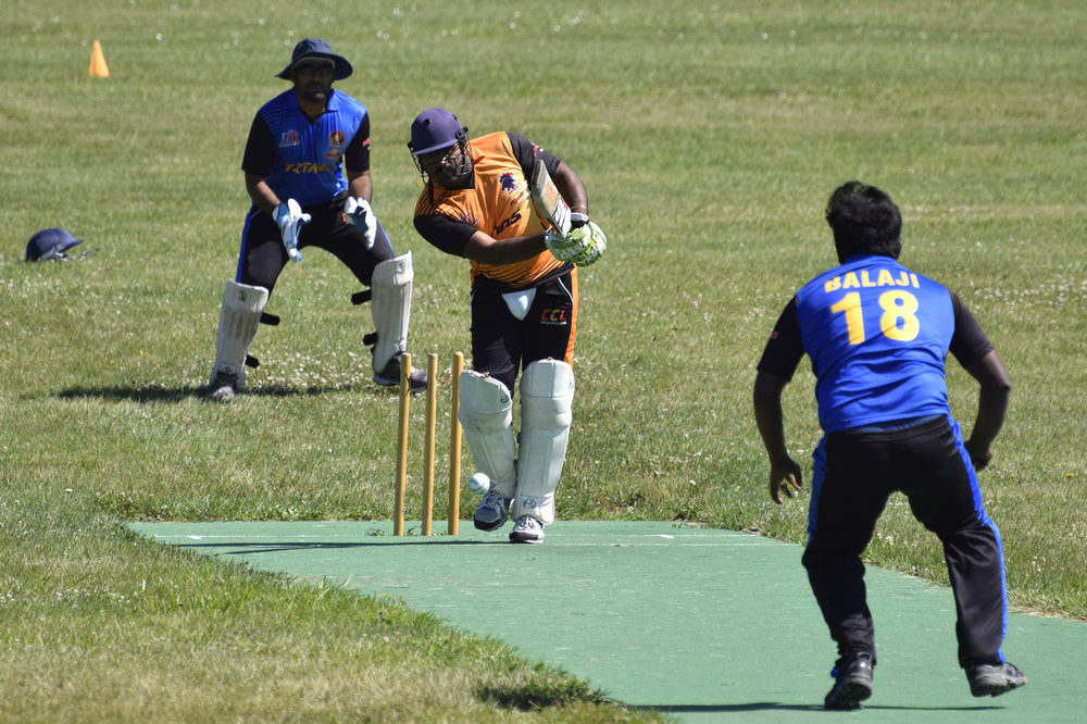 The Cooridor Cricket League kicked off its inaugural season in June, playing weekly games at Seminole Valley Park in Cedar Rapids. (Ryan Young/The Gazette)