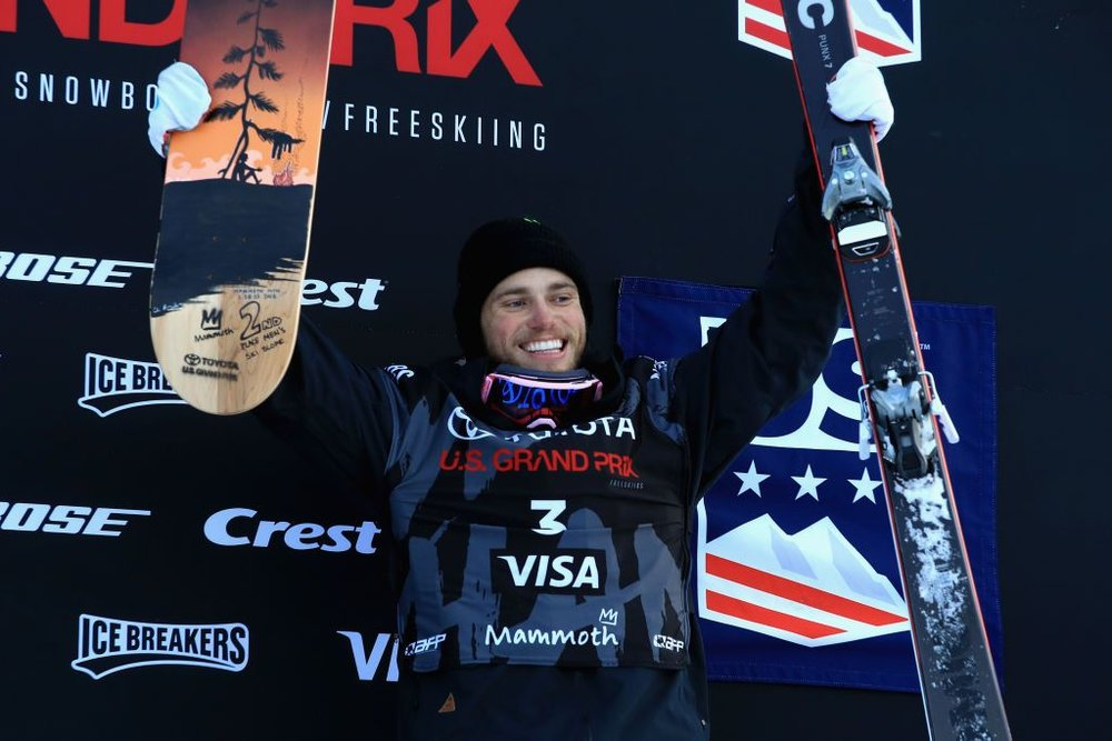 American skier Gus Kenworthy broke his thumb in practice on Thursday in PyeongChang, South Korea, ahead of his first Olympic event. (Getty Images)