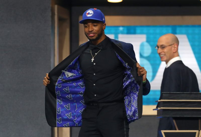 Villanova's Mikal Bridges, who grew up just outside of Philadelphia, was drafted by the 76ers on Thursday night in the NBA draft. However, the dream of playing for his hometown team was taken away from him just six picks later when he was traded to the Phoenix Suns. (Getty Images)