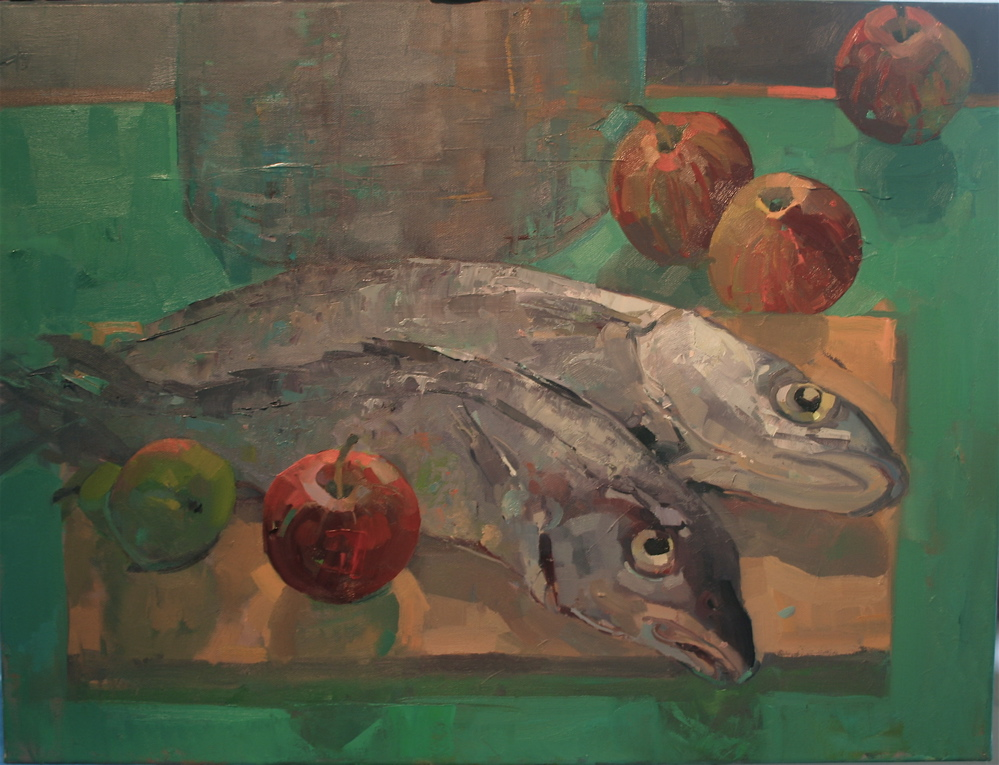 Still Life with Fish and Apples