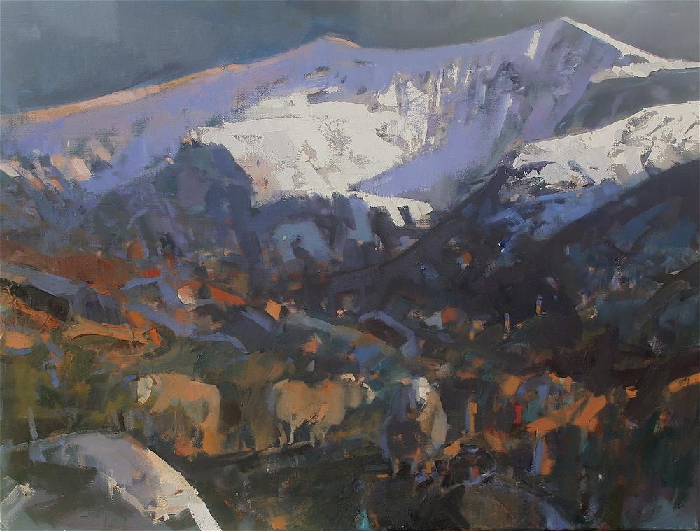 Sheep grazing, Cam a' Lochaigh [Caoire ar Féarach, Cam a' Lochaigh]
