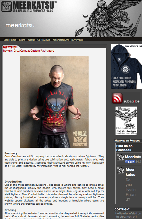 Source:  http://meerkat69.blogspot.com/2013/09/review-cruz-combat-custom-rashguard.html