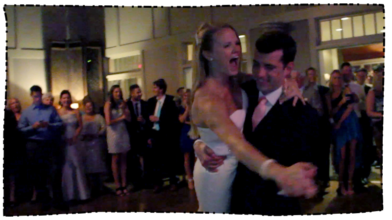 Click to watch Amanda & Andrew's Party Package video.