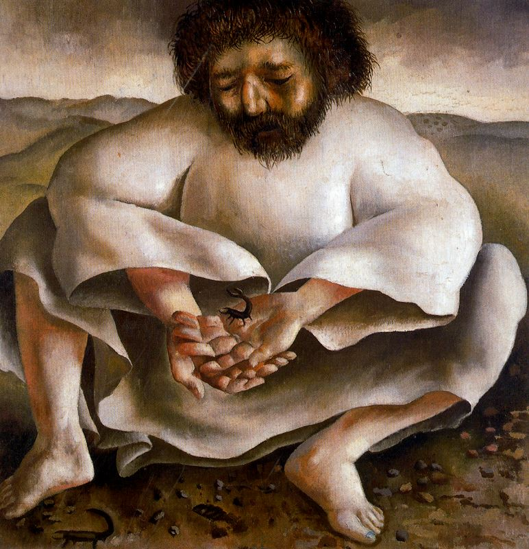 "Stanley Spencer's ""Christ in the Wilderness: The Scorpion"""