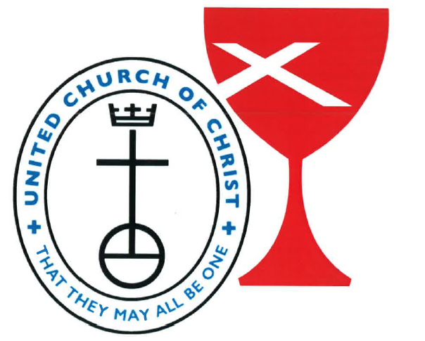 The symbols of the United Church of Christ and the Christian Church (Disciples of Christ)