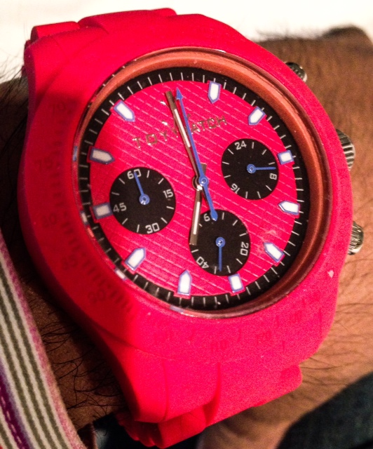 Wrist Shot of the Toy Watch Red Velvety