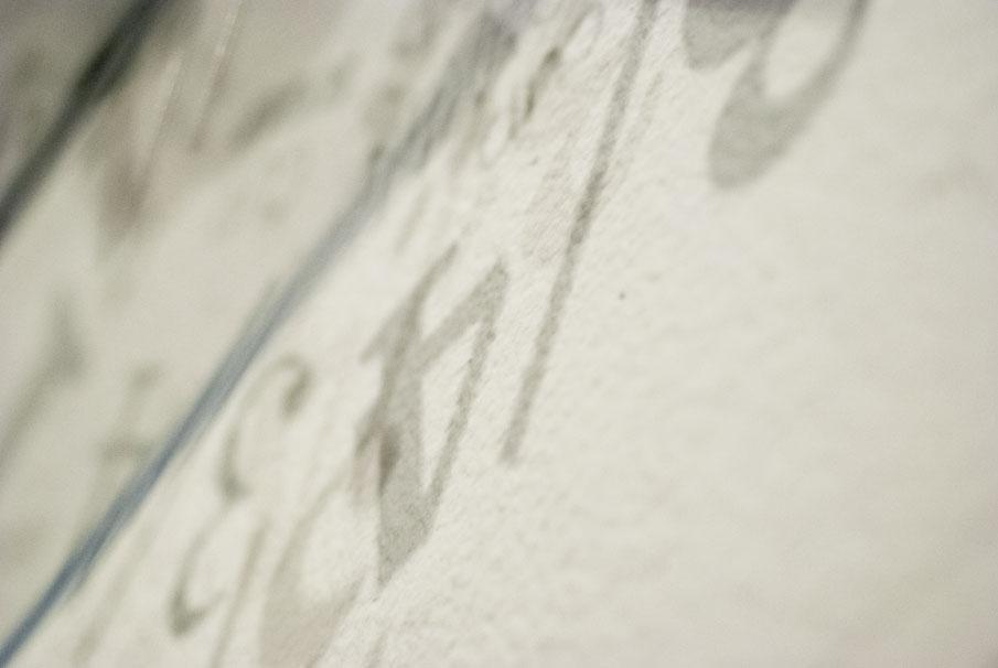 Acrylic edge and text shadows.