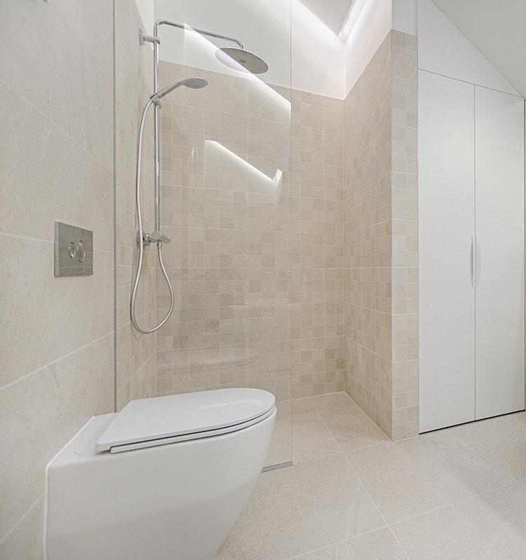 contemporary tile bathroom