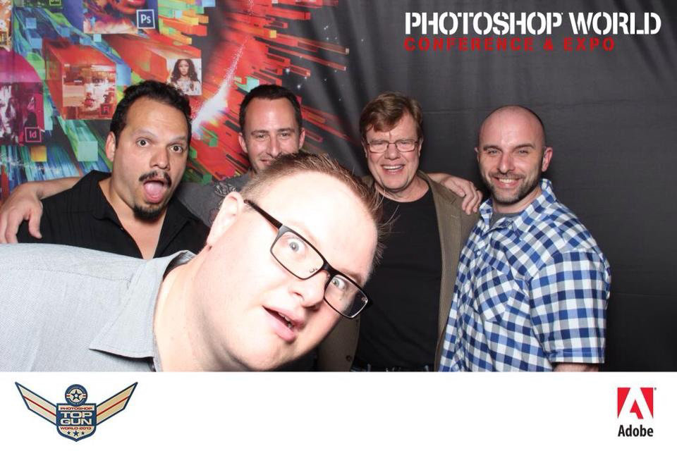 Brad photo bombing some of the best photographers and instructors in the business. RC, Matt K, Joe MCNally, Gyln and Dewis.