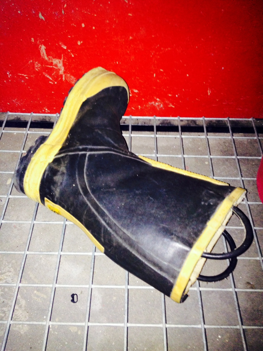The Fireman's Boot that saved the camera shot with my iPhone.