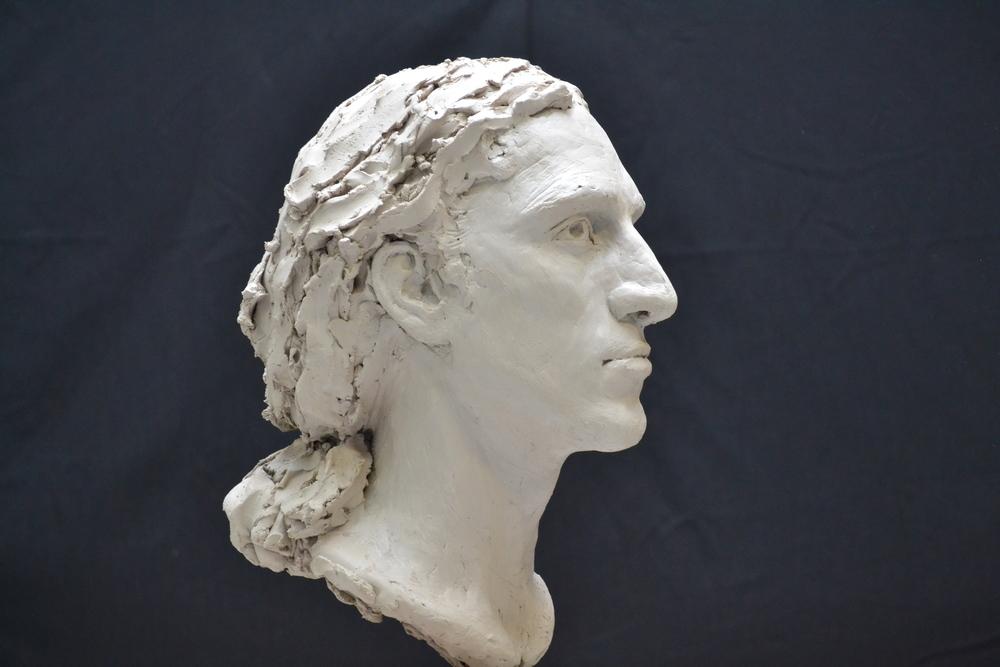 Mon tout premier portrait sculpté dans l'argile, Printemps 2015