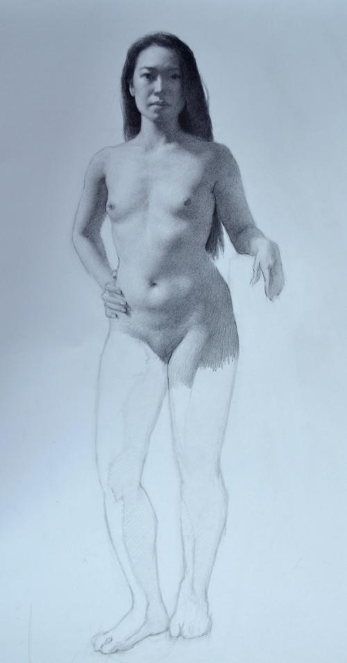 Wendy , graphite sur papier, 2016
