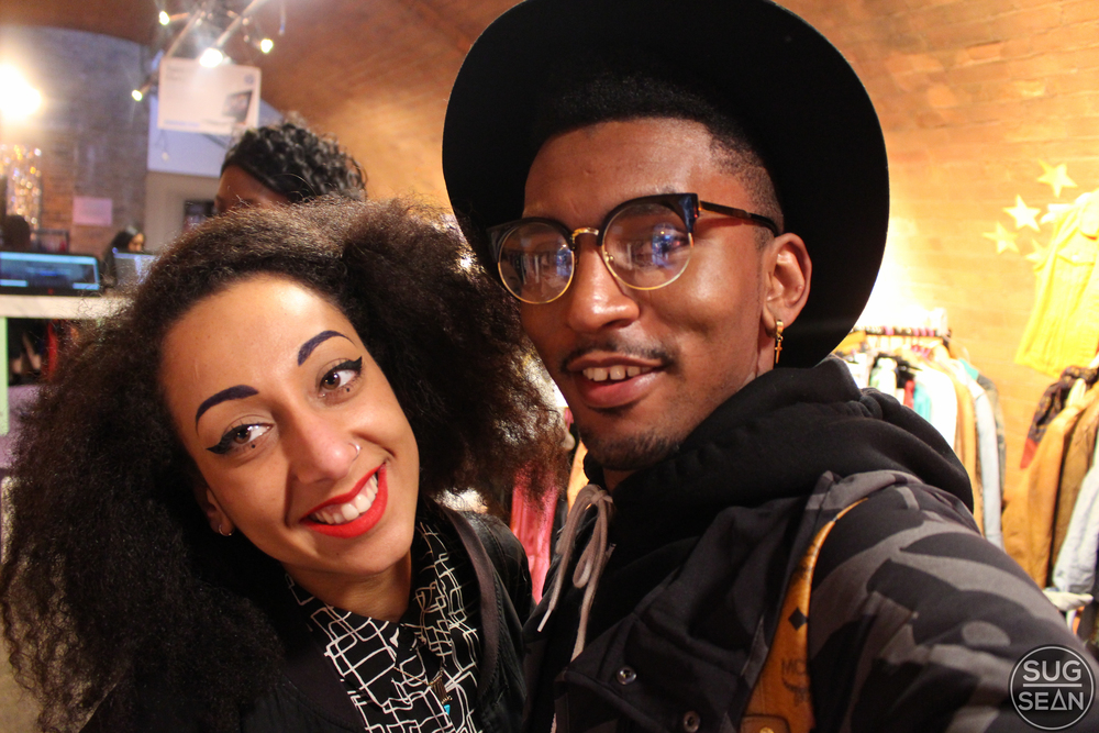 Amina And me At Asos Marketplace pop up.  Shoreditch, London