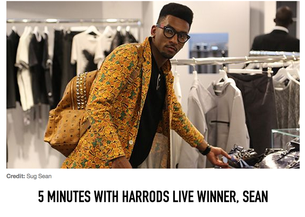 Read my 5 Minutes With Harrods interview.