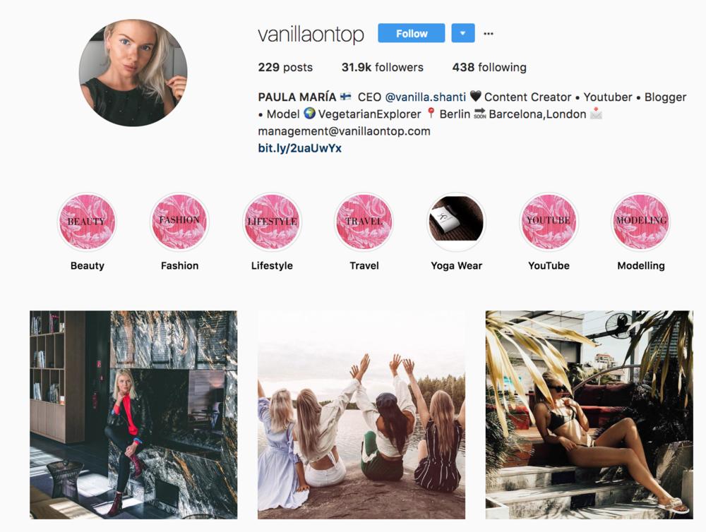 Paula Potry, Best instagram bio