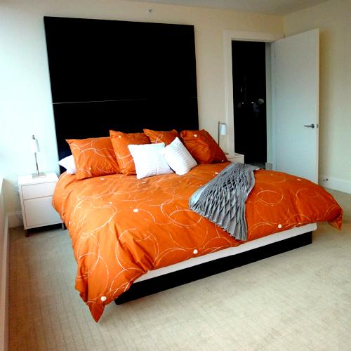 Dogpatch Condo Master Bedroom: Seattle Condo Interior Design