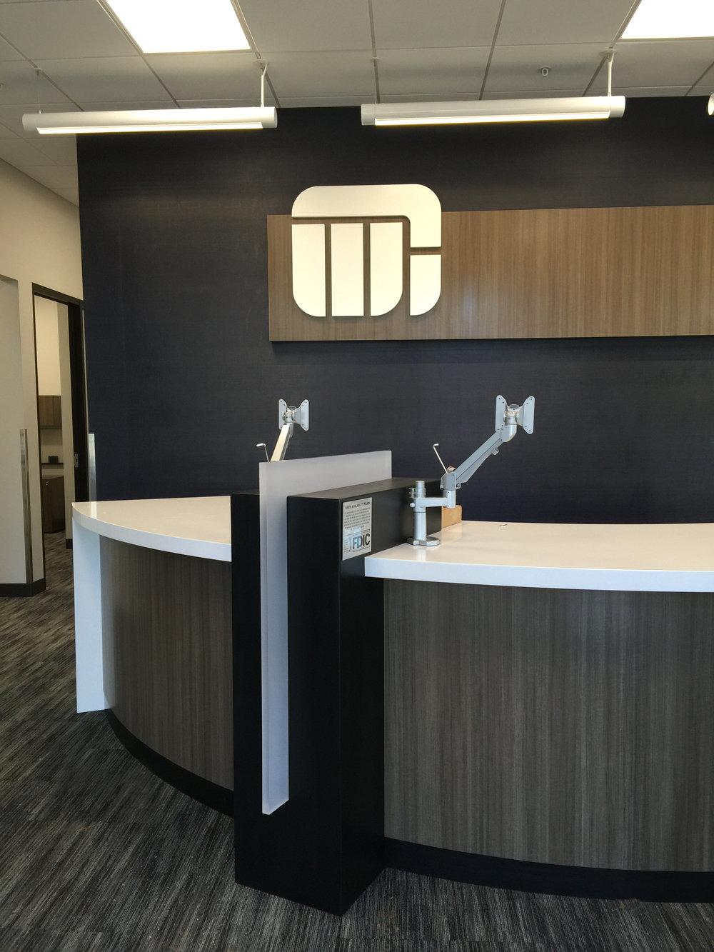 Teller Pod / Custom signage / Interior Design / Details