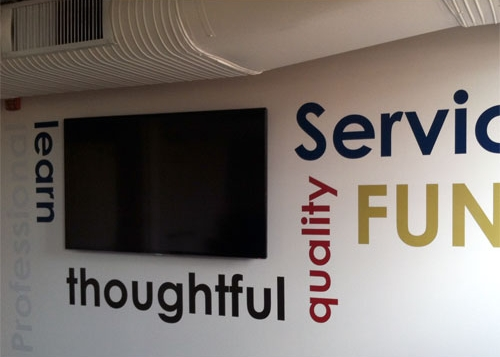 Washington Trust Bank | Priority Service Department in the Holley Mason Building | Graphic Signage