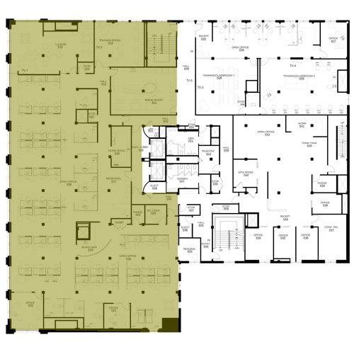 Washington Trust Bank | Priority Service Department in the Holley Mason Building | Efficient Layout Floorplan