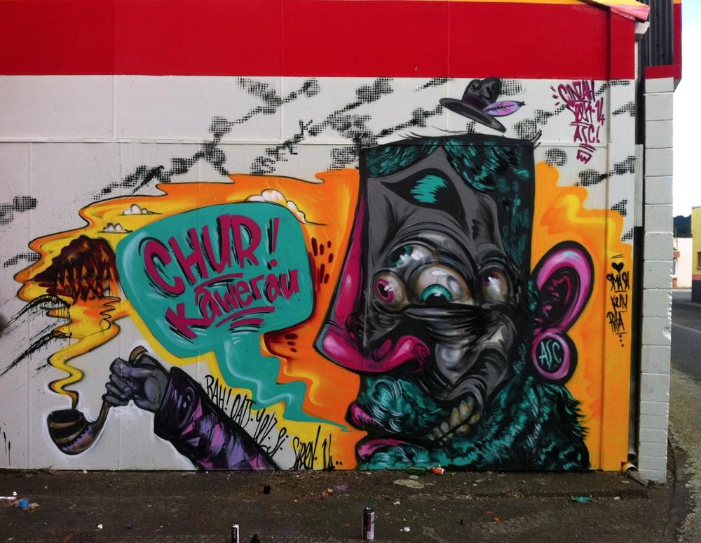 Jam wall - Day 2 in town - Cinzah Seek character