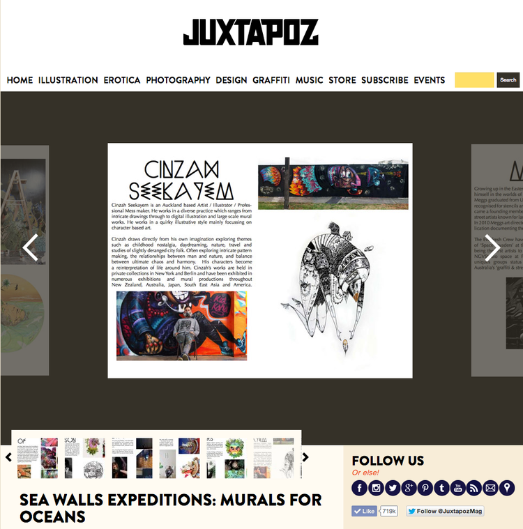 Juxtapoz Feature for Sea Walls - Isla Mujeres - VIEW HERE