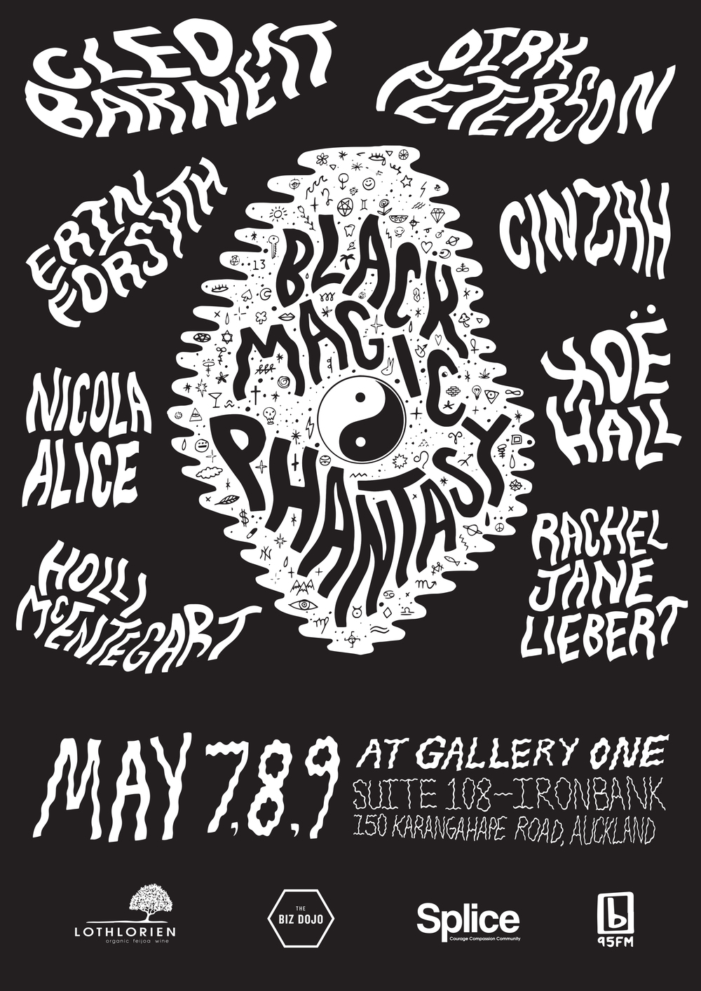 May 7,8,9 at Gallery One. Suite 108 Ironbank. 150 K rd, Auckland.