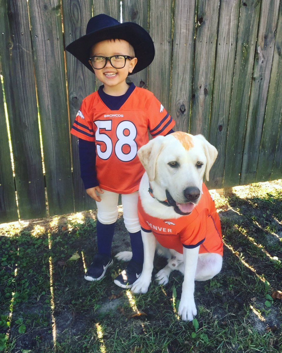 "When the kid rings the doorbell and gets asked who he is, the dog says ""He's Von Miller, and I'm every other Bronco."""