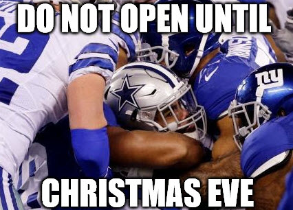 This is also the only time this year the Giants defense has made a tackle.