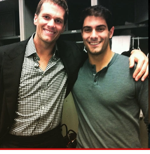 Note to Jimmy G: Keep an eye on Brady's hands, to make sure he doesn't stab you in the back.