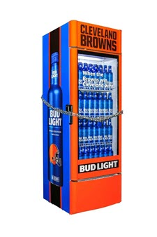 Bud Light will place the fridges of Bud Light that will automatically unlock as soon as the Browns win their first game and distribute free beer around Cleveland to fans that we're sure will already be delirious with happiness.