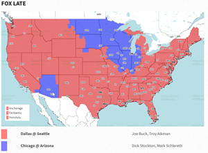 Red is Dallas v. Seattle. Ouch.