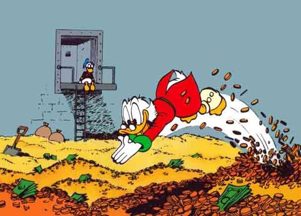 It'll be a Scrooge McDuck Sunday night for the Vegas oddsmakers.