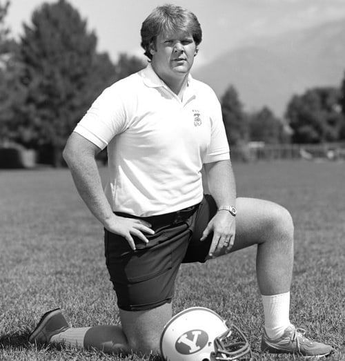 Andy Reid as a BYU assistant in 1982. He was the same size as a 12 year old in the Pass Punt and Kick competition. Look it up. We're sparing you the picture.