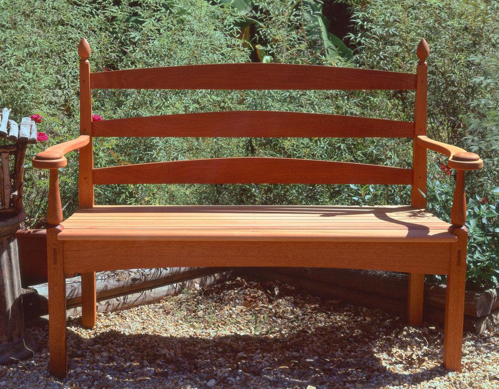 Mahogany Garden Bench
