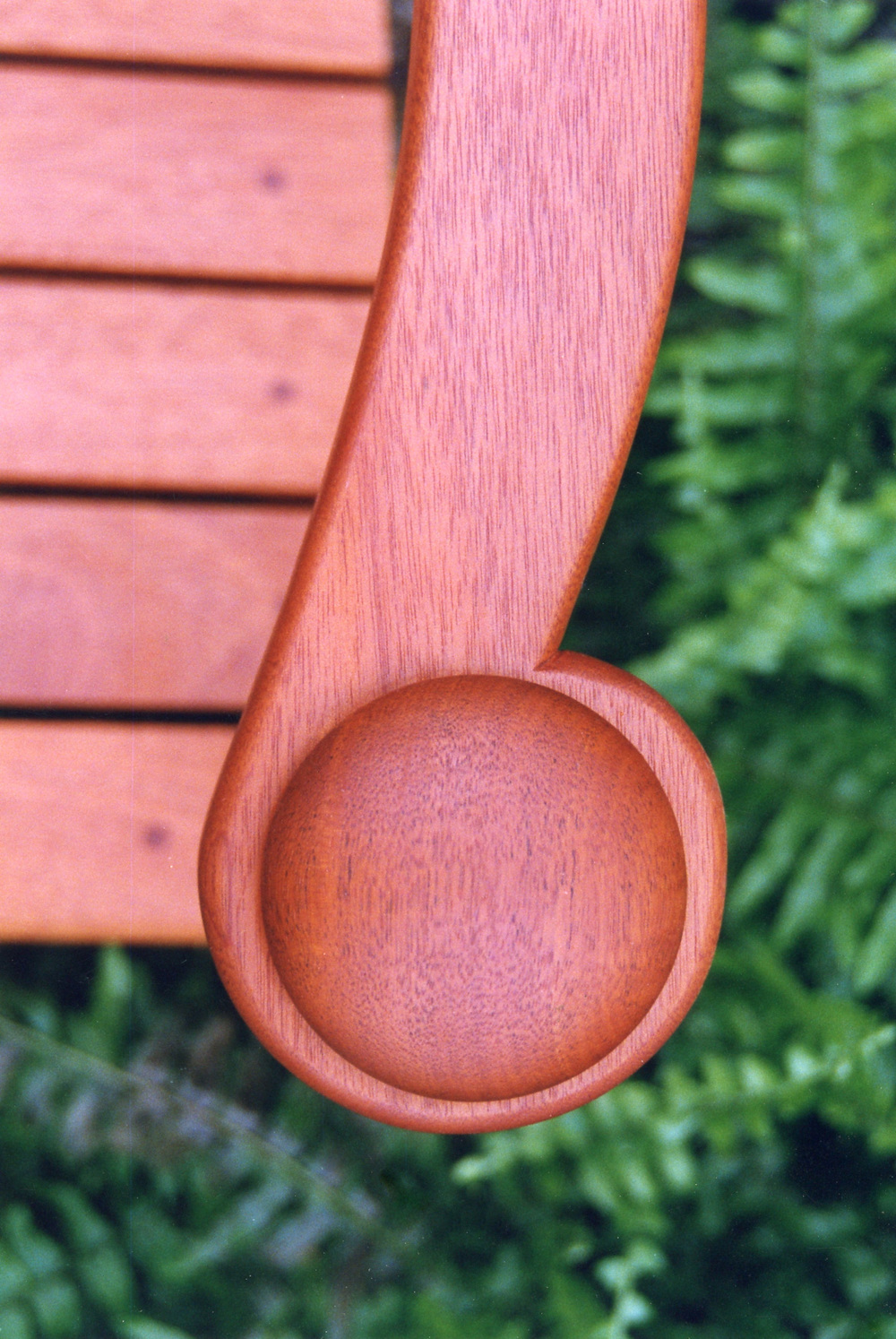 Mahogany Garden Bench Detail