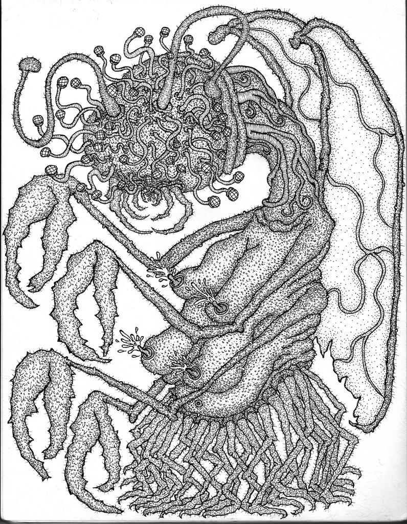 H.P Lovecraft Mi-go for Ape Publications zine