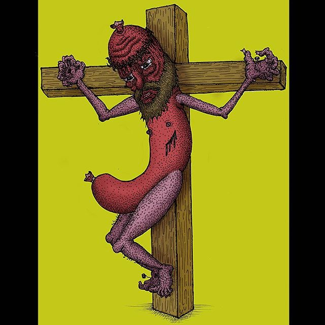 Colored this Jesus sausage @lifeform.co