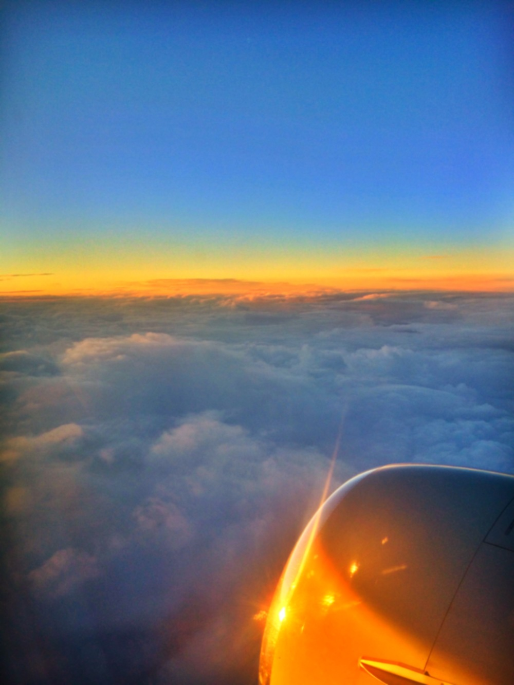 Sunrise at 35,000 feet.
