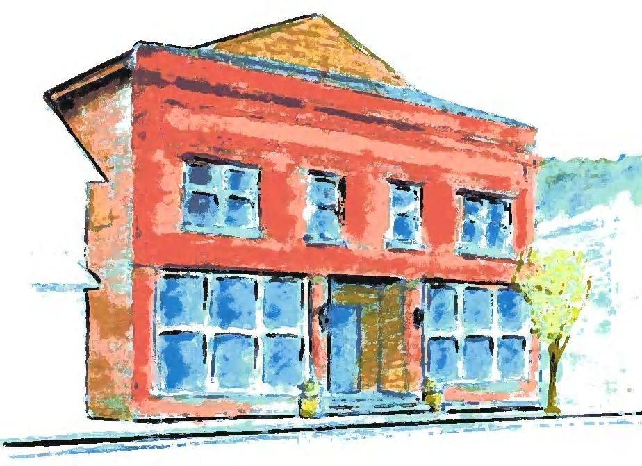 CAS Arts Center, Livingston Manor, NY Pastel drawing by Rick Pereira