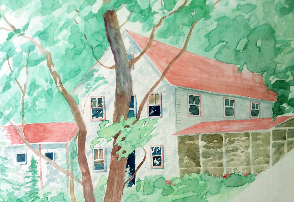Image: Ann Higgins, detail from Untitled (Catskill Art Society), watercolor.