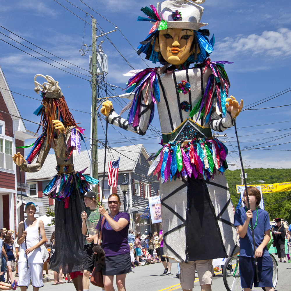 Catskill Puppet Theater.   12th Annual Trout Parade, June 13, 2015.   Photo by Ted Pilonero.